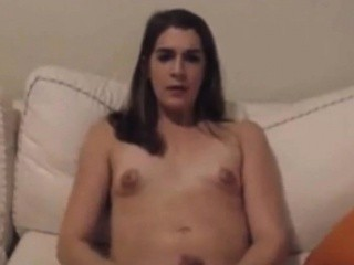 Transsexual Amateur Making Herself Cum