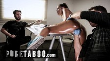 PURE TABOO Crossing Borders- Cavity Search Makes Adriana Chechik Squirt