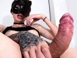 Jerking off shemale tranny solo play